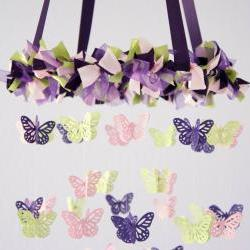 Crib Mobile- Butterfly Mobile, Baby Shower Gift, Photographer Prop