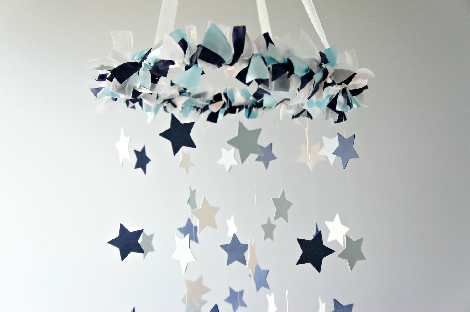nursery mobiles - star mobile blue nursery mobile shower gift photographer prop