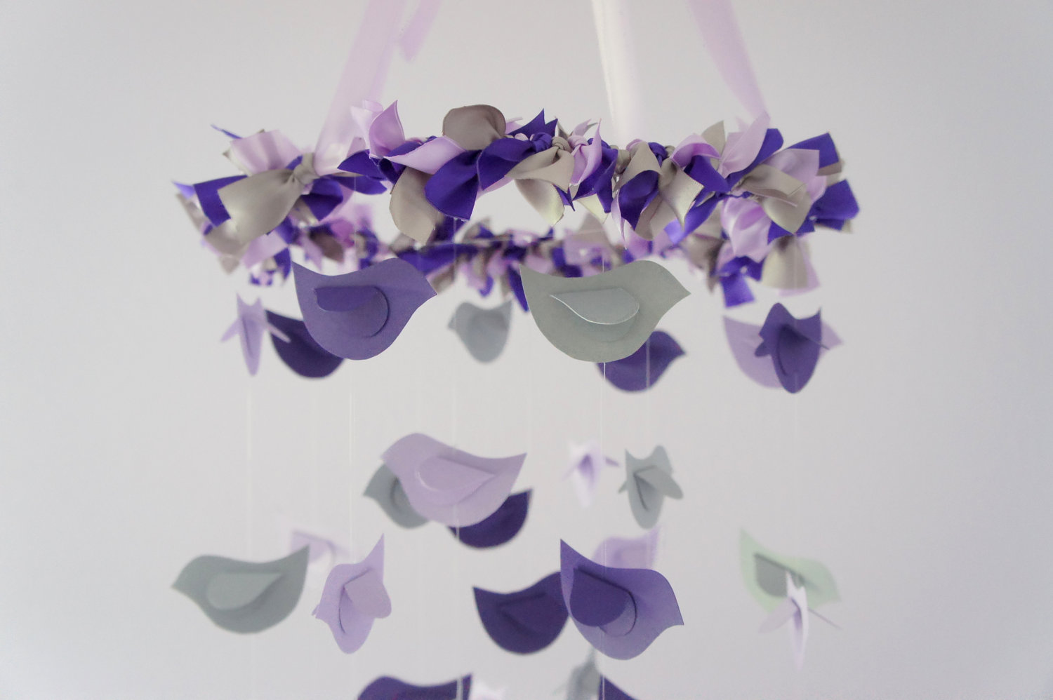 birds in purple lavender grey baby shower gift photographer prop